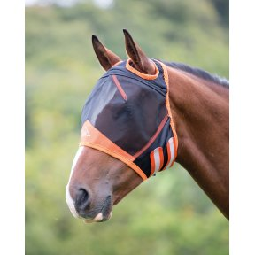 Shires Fine Mesh Fly Mask With Ear Holes